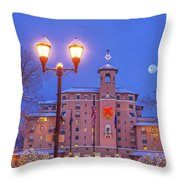 Our Annual Hometown Fete In A World-famous Hotel Throw Pillow
