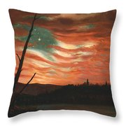 Our Banner In The Sky Throw Pillow