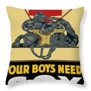 Our Boys Need Sox - Knit Your Bit Throw Pillow