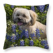 Our Bud In The Bonnets Throw Pillow