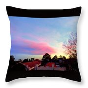 Our Cloud Sunset 12-08 Throw Pillow