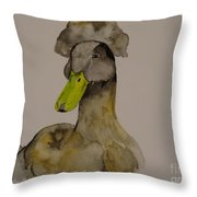 Our Crested Drake Throw Pillow