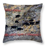 Our Father Owns Throw Pillow