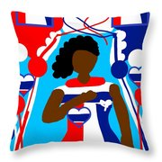 Our Flag Of Freedom 3 Throw Pillow