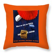 Our Food Is Fighting - Ww2 Throw Pillow