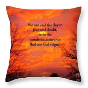 Our God Reigns Throw Pillow