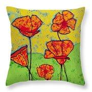 Our Golden Poppies Throw Pillow