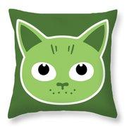 Our Green Cat Birka Throw Pillow