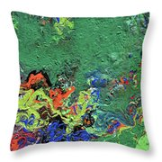 Our Green Planet Throw Pillow