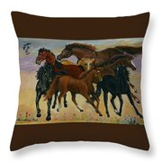 Our Horses Throw Pillow
