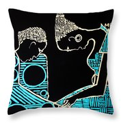 Our Lady Meets St Joseph For The First Time In The Temple Throw Pillow