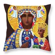 Our Lady Of Czestochowa - Mmcze Throw Pillow