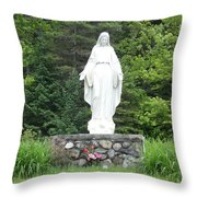 Our Lady Of Grace Throw Pillow