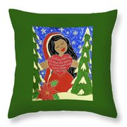 Our Lady Of Light Throw Pillow