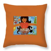 Our Lady Of Proclamation Throw Pillow