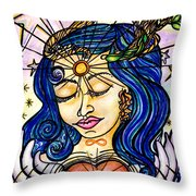 Our Lady Of Self Blessing Throw Pillow