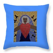 Our Lady Of Sorrows Throw Pillow by Angela Yarber