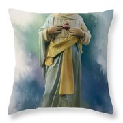 Our Lady Of The Immaculate Heart Throw Pillow
