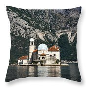 Our Lady Of The Rocks Church Throw Pillow