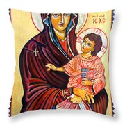 Our Lady Of The Snows  Throw Pillow