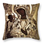 Our Lady Of Yevsemanisk Throw Pillow
