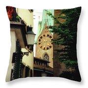 Our Ladys Minster Church In Zurich Switzerland Throw Pillow