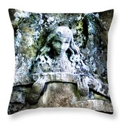 Our Little Angel Stone Carving Horizontal Throw Pillow