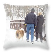 Our Love Will Keep Us Warm Throw Pillow