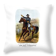 Our Old Commander - General Grant Throw Pillow