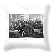 Our Presidents 1789-1881 Throw Pillow