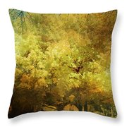 Our Town In Autumn Throw Pillow