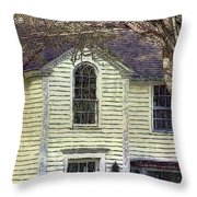 Our Town's Witch House Throw Pillow