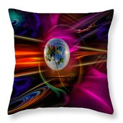 Our World Of Mystery - Airmail Throw Pillow
