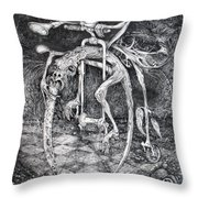 Ouroboros Perpetual Motion Machine Throw Pillow