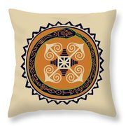 Ouroboros With Devine Fire Wheel Throw Pillow