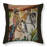 Out For A Ride Throw Pillow