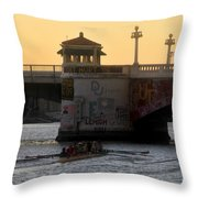 Out For An Evening Scull Throw Pillow