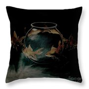 out from Jar  Throw Pillow
