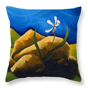 Out From Under A Rock Throw Pillow