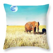 Out In The Serengeti Throw Pillow