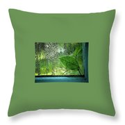Out My Window Throw Pillow