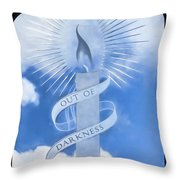 Out Of Darkness - Impressions Throw Pillow