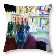 Out Of Darkness Into The Light Throw Pillow