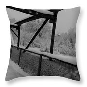 Out Of Kilter Walkway Throw Pillow