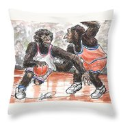 Out Of My Way Throw Pillow