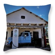 Out Of Service New Mexico Gas Station Throw Pillow