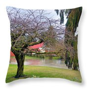 Out Of The Banks Throw Pillow