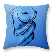 Out Of The Blue Aventurine Throw Pillow