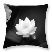 Out Of The Depths Bw Throw Pillow