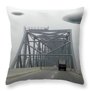 Out Of The Fog Throw Pillow